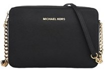 Michael Kors Women's Black Leather Shoulder Bag. - BLACK - STYLE