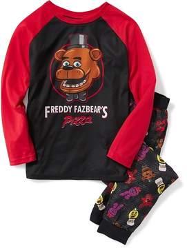 Old Navy Five Nights at Freddy's Freddy Fazbear's Pizza Sleep Set for Boys