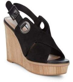 BCBGeneration Penelope Leather Open-Toe Wedge Sandals