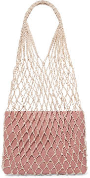 Loeffler Randall Adrienne Macramé And Leather Tote - Blush