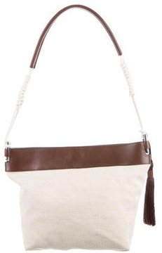Rebecca Minkoff Leather-Trimmed Canvas Hobo - NEUTRALS - STYLE
