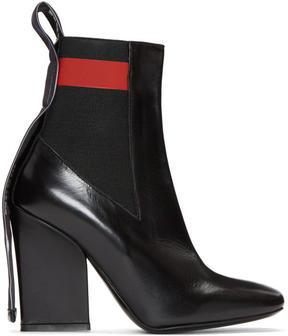 MSGM Black Logo Chelsea Boots