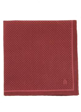 Dunhill Polka-dot print silk pocket square