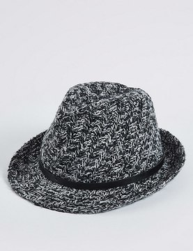 Marks and Spencer Buckle Trilby Winter Hat