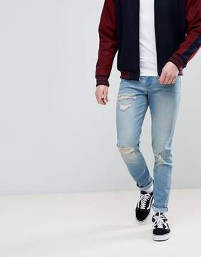 Le Breve Skinny Ripped Bleach Jeans