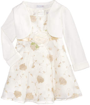 Sweet Heart Rose Embroidered Dress & Cardigan, Baby Girls (0-24 months)