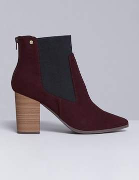 Lane Bryant Faux Suede Ankle Boot with Block Heel