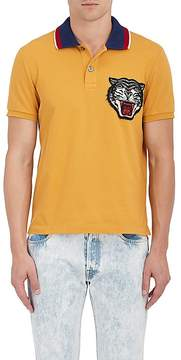 Gucci Men's Tiger-Face Stretch-Cotton Polo Shirt