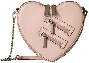 Rebecca Minkoff Jamie Heart Crossbody Cross Body Handbags - VINTAGE PINK - STYLE