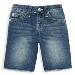 True Religion Little Boy's & Boy's Slim Single Frayed Hem Shorts