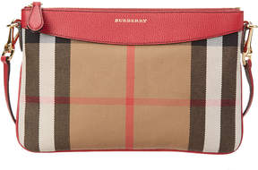 Burberry Peyton House Check & Leather Clutch Bag - ONE COLOR - STYLE
