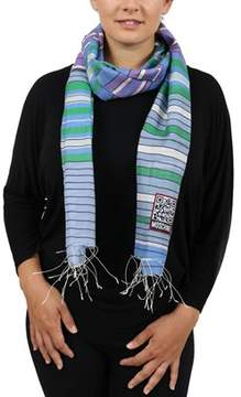 Moschino Scr11243/1 Blue Stripe Scarf.