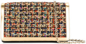 Casadei tweed clutch bag