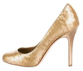 Chanel Sequin-Accented CC Pumps