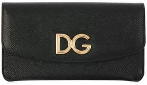 Dolce & Gabbana logo flap purse - BLACK - STYLE