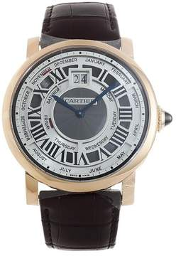 Cartier Rotonde de Annual Calendar Complication 18 kt Rose Gold Men's Watch