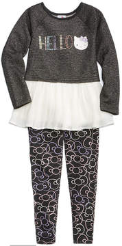 Hello Kitty 2-Pc. Long-Sleeve Tunic & Bow Leggings Set, Little Girls (4-6X)
