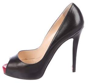 Christian Louboutin Very Prive 120 Leather Pumps