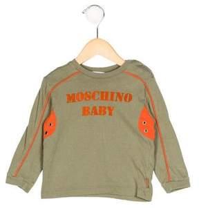 Moschino Boys' Logo Long Sleeve Shirt
