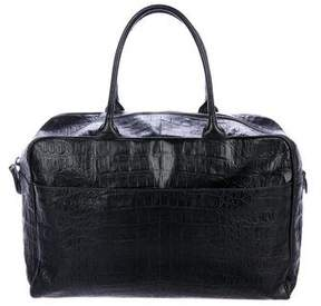 Alaia Embossed Handle Bag