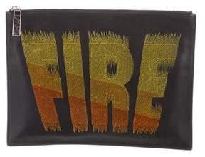 Kenzo FIRE Leather Clutch
