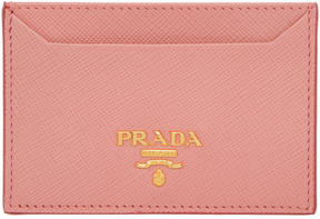 Prada Pink Leather Card Holder