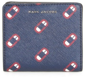 Marc Jacobs Women's Scream Saffiano Leather Wallet - Blue - BLUE - STYLE