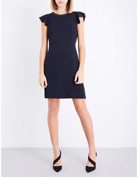 Claudie Pierlot Flared-sleeve crepe dress