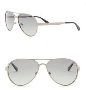 GUESS 57mm Polarized Aviator Sunglasses