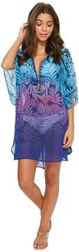 Bleu Rod Beattie Island Heat Caftan Cover-Up Women's Swimwear