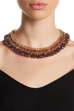 Carolee Woven Beaded Collar Necklace