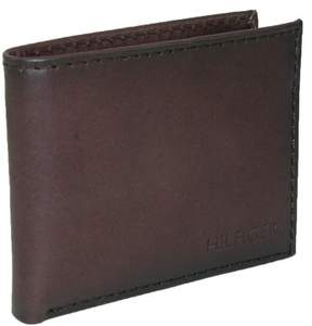 Tommy Hilfiger Men's Leather Bridgewater Passcase Bilfold Wallet, Brown