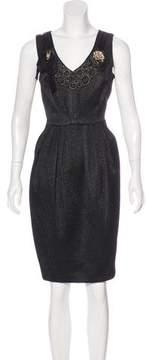 Carmen Marc Valvo Wool-Blend Dress