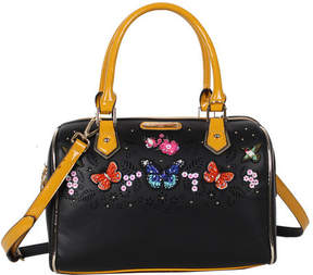 Nicole Lee Women's Visola Butterfly Embroidered Boston Shoulder Bag