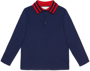 Children's cotton polo with Web