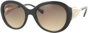 Kay Unger Black Celia Round Sunglasses