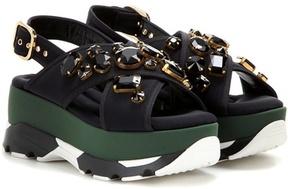 Marni Crystal-embellished platform sandals