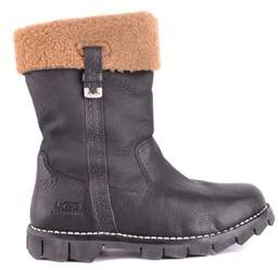 UGG Men's Black Leather Ankle Boots.