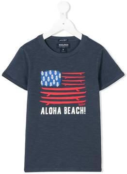 Woolrich Kids slogan surfboard print T-shirt
