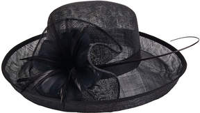 San Diego Hat Company Women's Sinamay Hat with Feather Flower