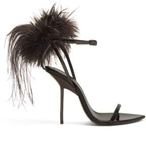 Saint Laurent Mansour feather-embellished sandals