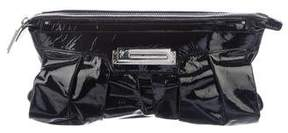 Giuseppe Zanotti Pleated Patent Leather Clutch
