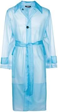 Calvin Klein translucent trench coat