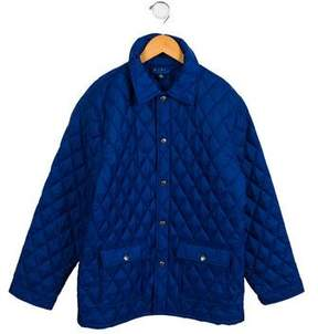 Brooks Brothers Boys' Quilted Pointed Collar Jacket
