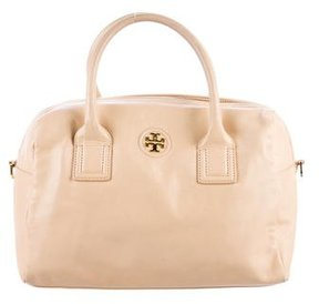 Tory Burch Textured Leather Satchel - NEUTRALS - STYLE