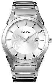 Bulova Men's Stainless Steel Bracelet Watch
