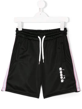 Diadora Junior drawstring-waist track shorts