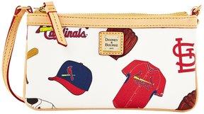 Dooney & Bourke St. Louis Cardinals Canvas Large Slim Wristlet - WHITE - STYLE