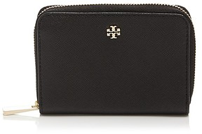 Tory Burch Robinson Zip Coin Case - BLACK/GOLD - STYLE
