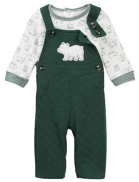 Little Me Bear Overall Set (Baby Boys)